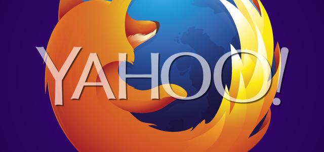 Firefox numatytoji paieška tampa Yahoo!