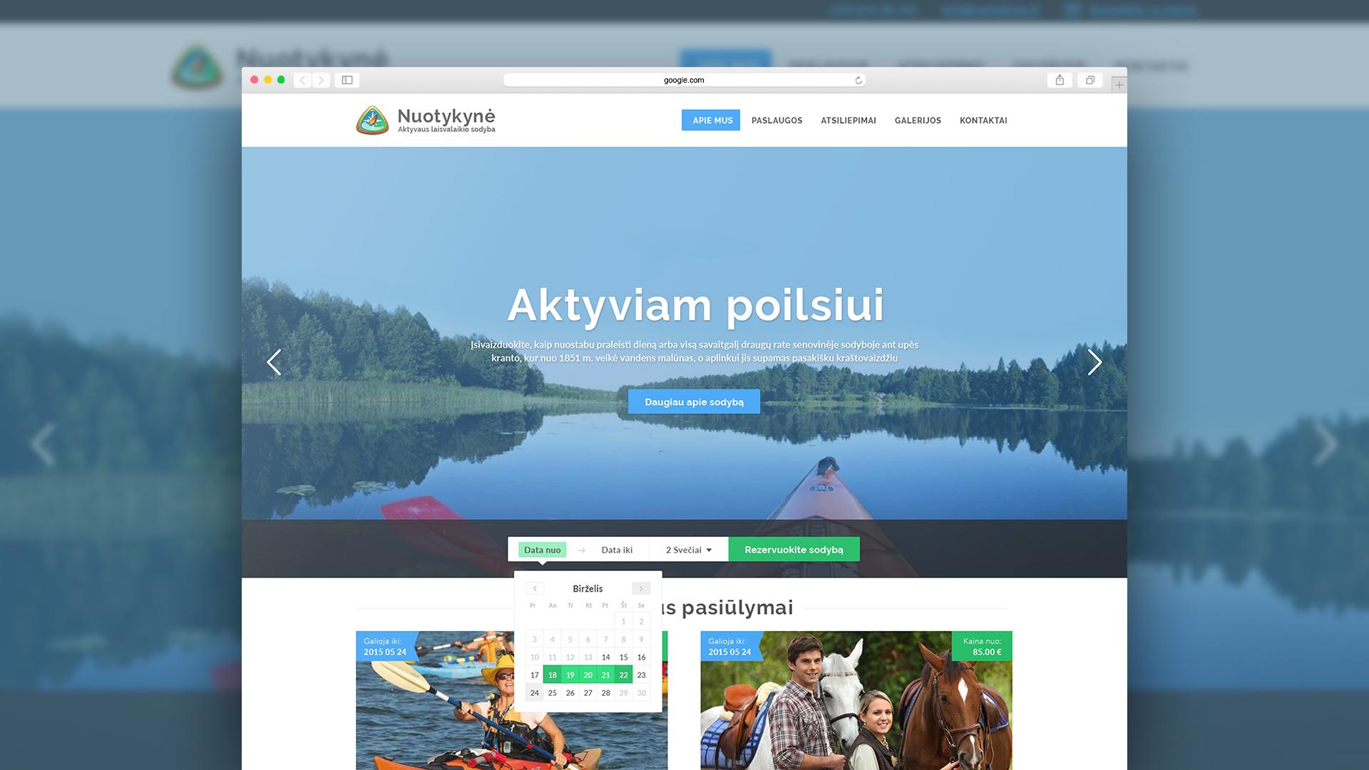 Kaimo turizmo sodybos tinklalapis